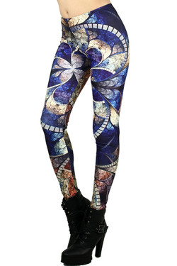 Wholesale Graphic Abstract Stone Leggings