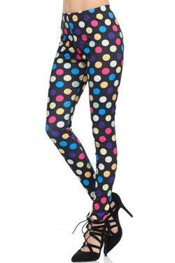 Wholesale Graphic Colorful Polka Dot Leggings