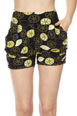 Wholesale Buttery Soft Lemon Harem Shorts