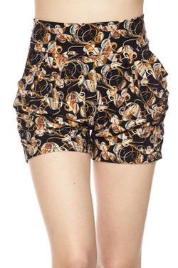 Wholesale Buttery Soft Amber Petal Harem Shorts