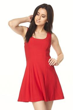 Wholesale Scuba Solid Skater Dress