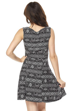 Wholesale Buttery Soft Tribal Elephant Fit and Flare Dress