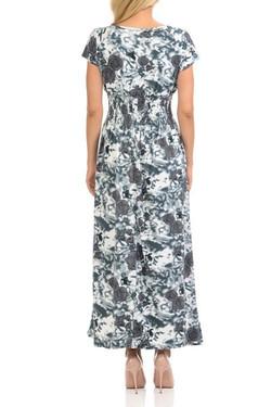 Wholesale Buttery Soft Short Sleeve Hazy Rose Maxi Dress