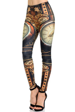 Wholesale Premium Graphic Print Timeless Steampunk Leggings