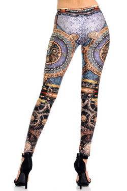 Wholesale Premium Graphic Print Eternal Steampunk Leggings