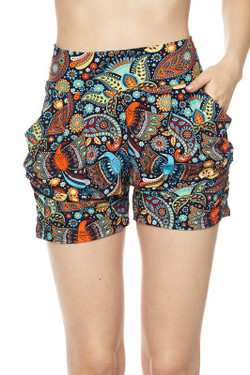 Wholesale Buttery Soft Lavish Garden Harem Shorts