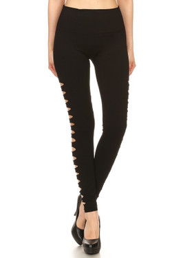 Wholesale Premium Side Slashed Seamless Leggings