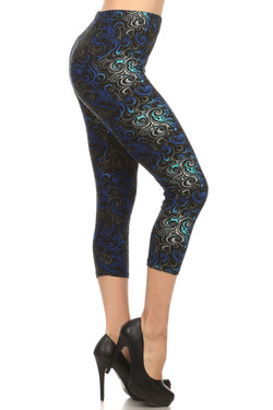 Wholesale Buttery Soft Tangled Swirl Capris