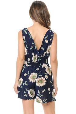 Wholesale Navy Blue Floral Esprit Summer Romper