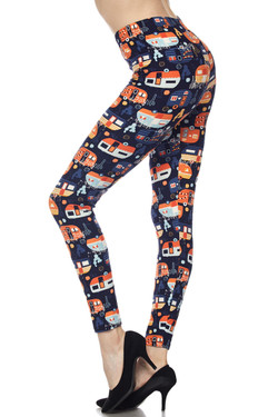 Wholesale Buttery Soft Colorful Camper Plus Size Leggings - 3X-5X