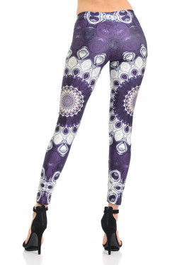 Wholesale Premium Graphic Jumbo Purple Mandala Leggings