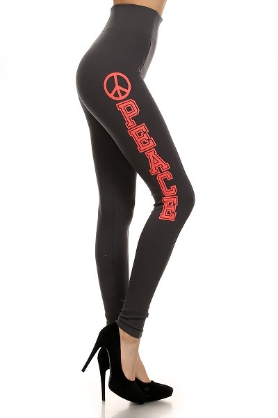 High Waisted Peace Contour Leggings