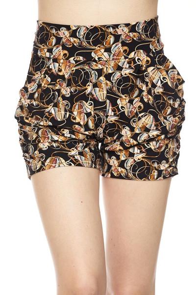 Wholesale Buttery Soft Amber Petal Harem Shorts