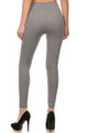 Back image of SL15FL20 - Heathered High Waist Fleece Lined Leggings