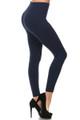 Side Image of SL15FL20 - Heathered High Waist Fleece Lined Leggings