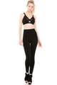Front image of  Wholesale Banded High Waisted Fleece Lined Leggings