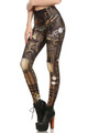 Back side image of DP-1625KDK - Wholesale Premium Graphic Leggings