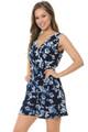 Wholesale Blue Daisy Floral Esprit Summer Romper