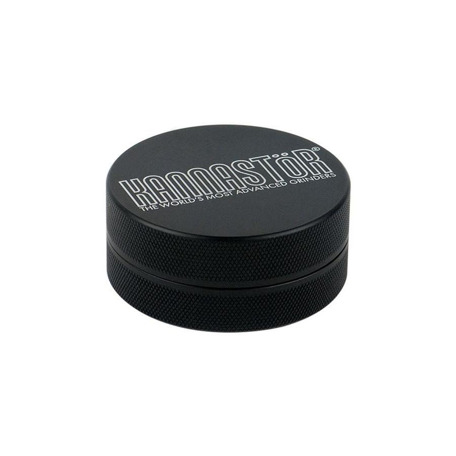 "Kannastor Black Solid Top & Body 2-Piece - 2.2"" - Black"