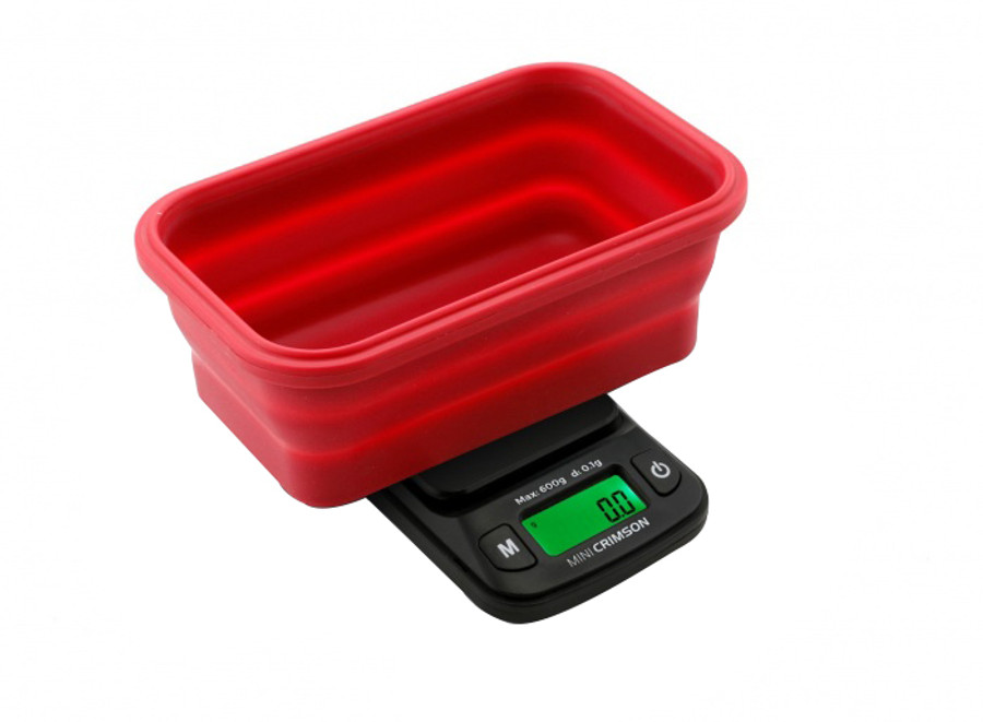 Crimson Collapsible Bowl Scale by Truweigh - 100g x 0.01g - Black