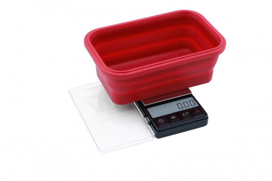 Crimson Collapsible Bowl Scale by Truweigh - 200g x 0.01g - Black