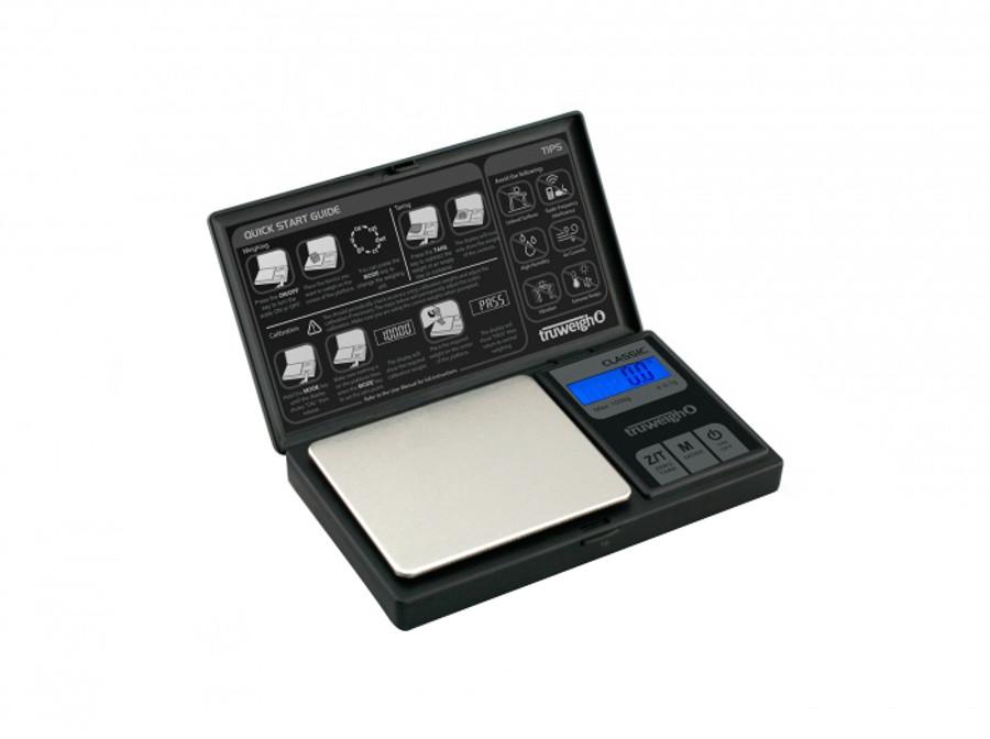 Classic Digital Mini Scale by Truweigh - 100g x 0.01g - Black