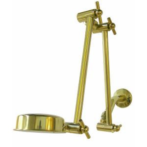 """Ultra Reach"" Double Wonder Shower Combo 3-1/2"" Head Brass"