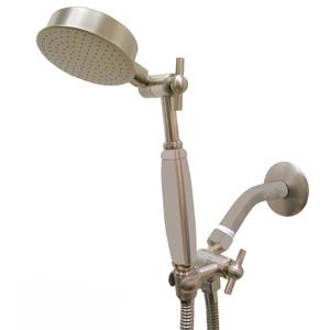 Premium Series Claw Mount Style Hand Held Wonder Shower head Brushed Nickel w/Brushed Nickle Handle