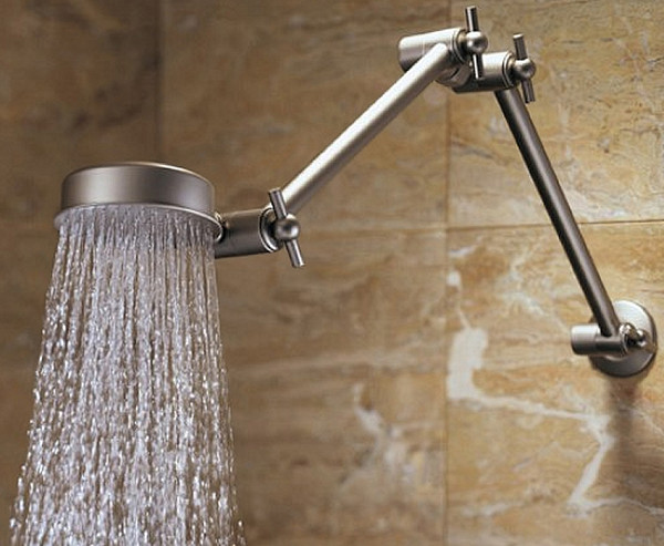#150-600 Ultra Reach Double Wonder Shower Combo  Brushed Nickel Finish