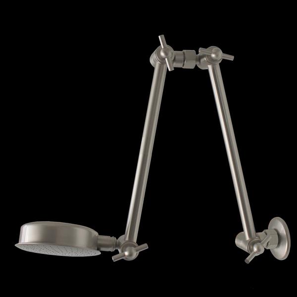 #150-600 Ultra Reach Double Wonder Shower Brushed Nickel Finish