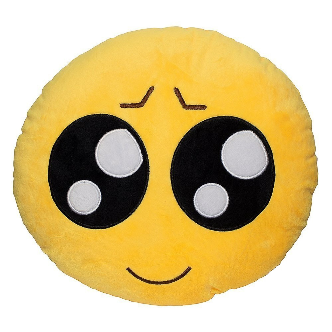 Please Emoji Pillow 12 5 Inch Large Yellow Smiley Emoticon