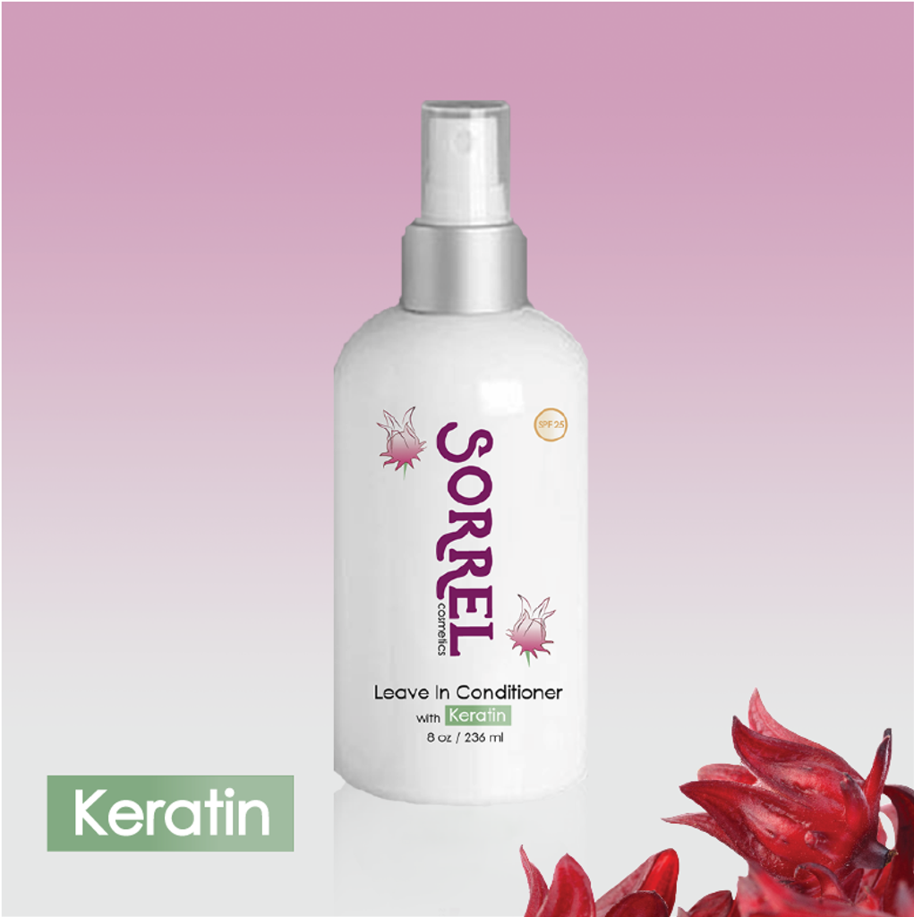 Sorrel Cosmetics Leave in Conditioner with Keratin spf 25