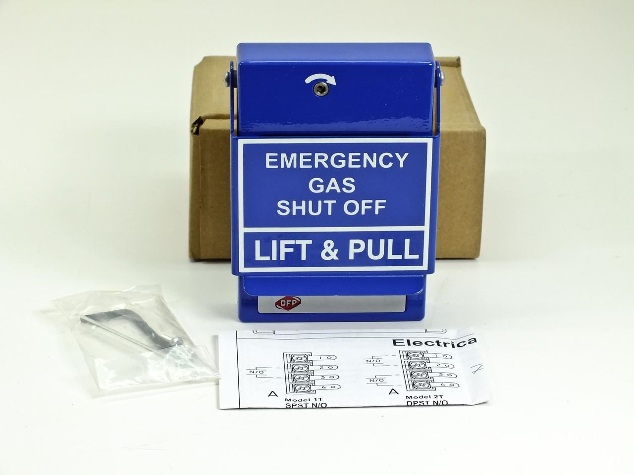 Rgs Rms 2t Lp Lift And Pull Emergency Gas Shut Off Station Blue