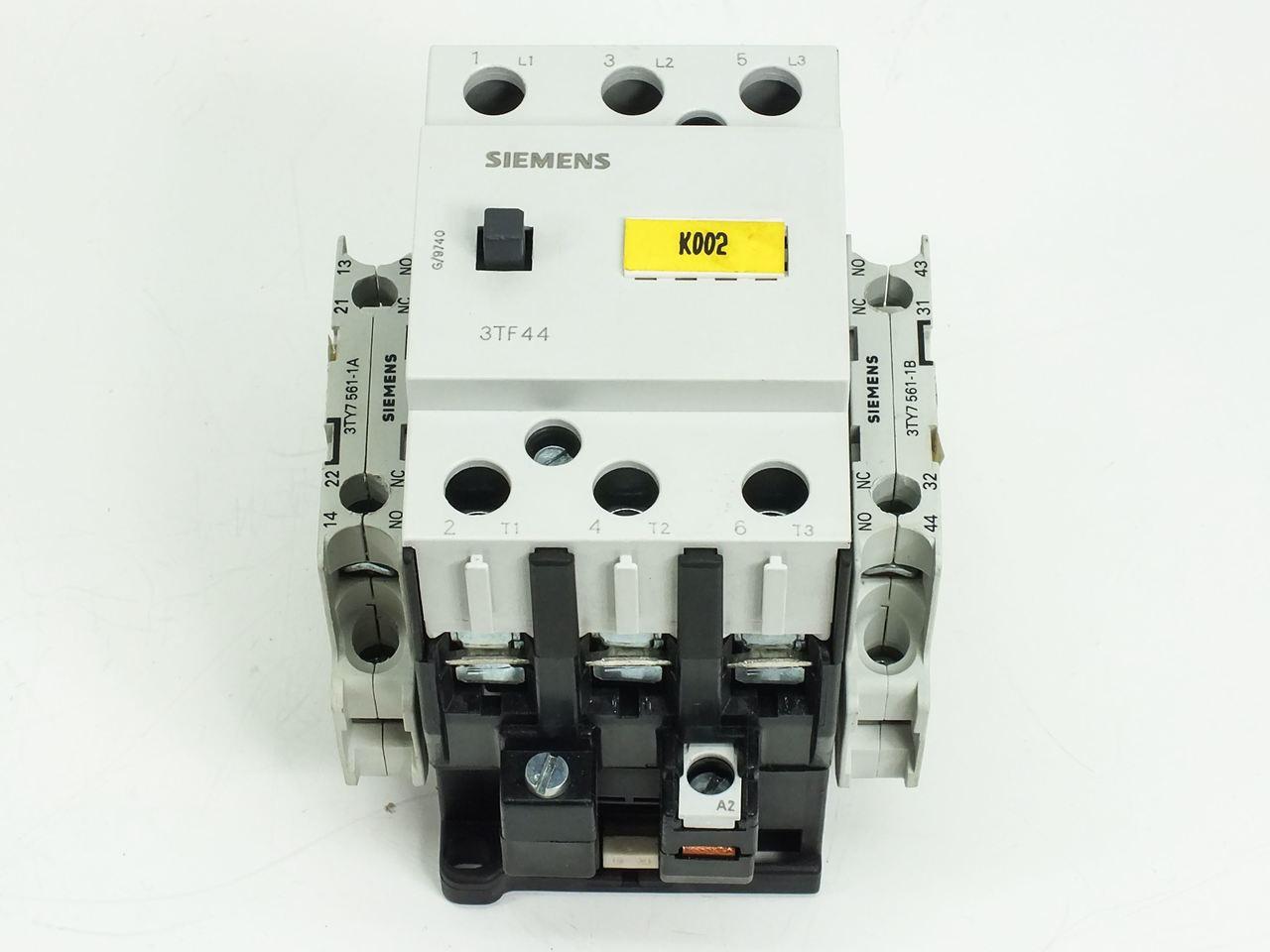 siemens 3tf4422 0a air break motor starter contactor 230v coil 3ty7 rh recycledgoods com