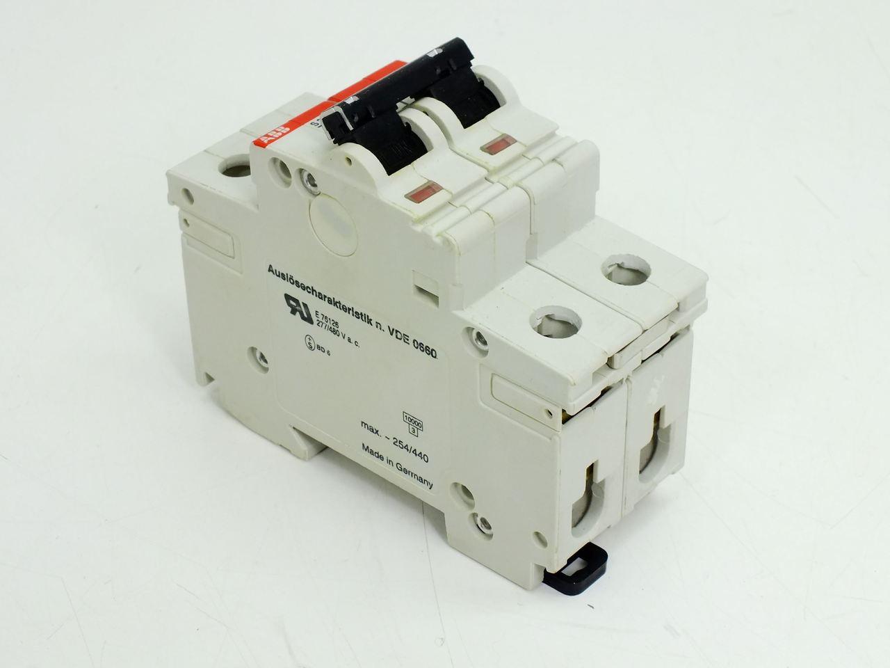 Abb S282uc Z6 Z6a S282 2 Pole Circuit Breaker