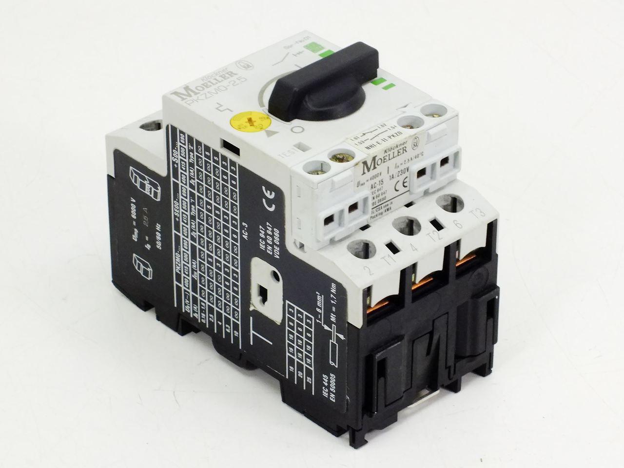 Eaton Moeller PKZM0-2.5 Manual Motor Protector Circuit Breaker ...