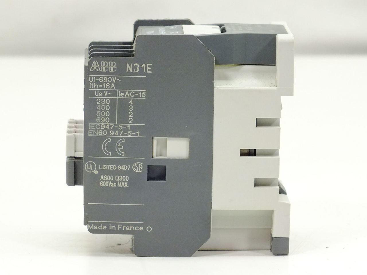 Abb N31e Contactor Relay 4 Pole 25 127v 50hz 150v 60hz Electromagnetic