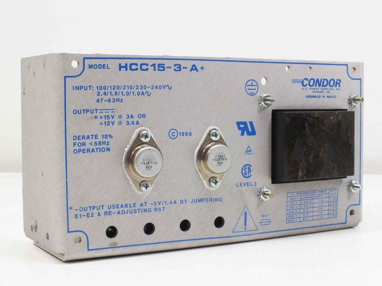Condor Hcc15 3 Aplus Dc Dual Power Supply 15vdc 3a 12vdc 34a A