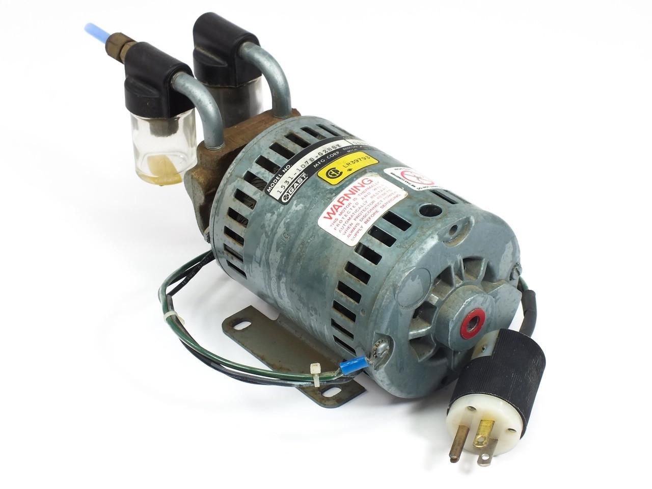 gast 1531 107b g288x 1 10 hp rotary vane vacuum pump recycledgoods com rh recycledgoods com Gast Pumps Dallas TX Industrial Vacuum Pumps