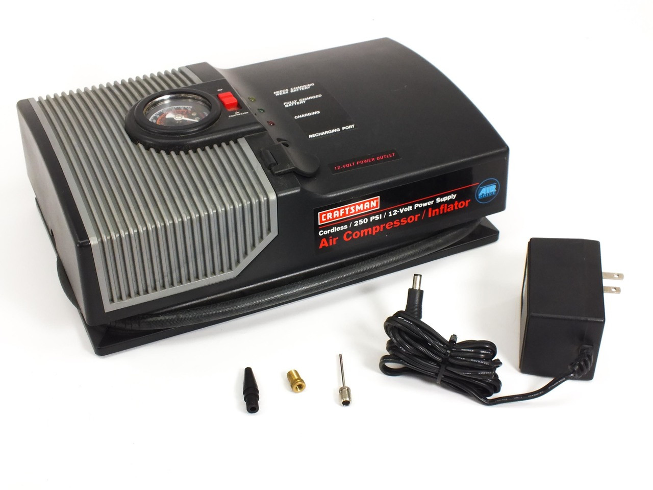Craftsman 75116 Portable Battery Powered Air Compressor 250 PSI 12 ...