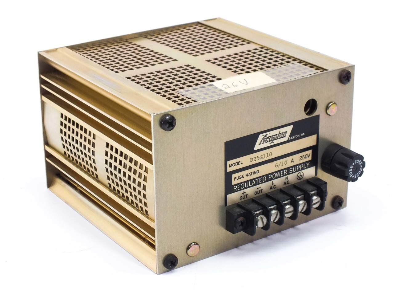 Acopian B25g110 Linear Regulated Ac Dc Power Supply 24vdc
