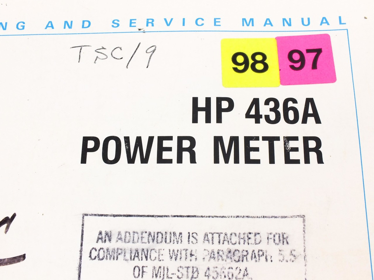 Hp 436a power meter operating and service manual with options 003 hp 436a power meter operating and service manual with options 003004022 freerunsca Choice Image