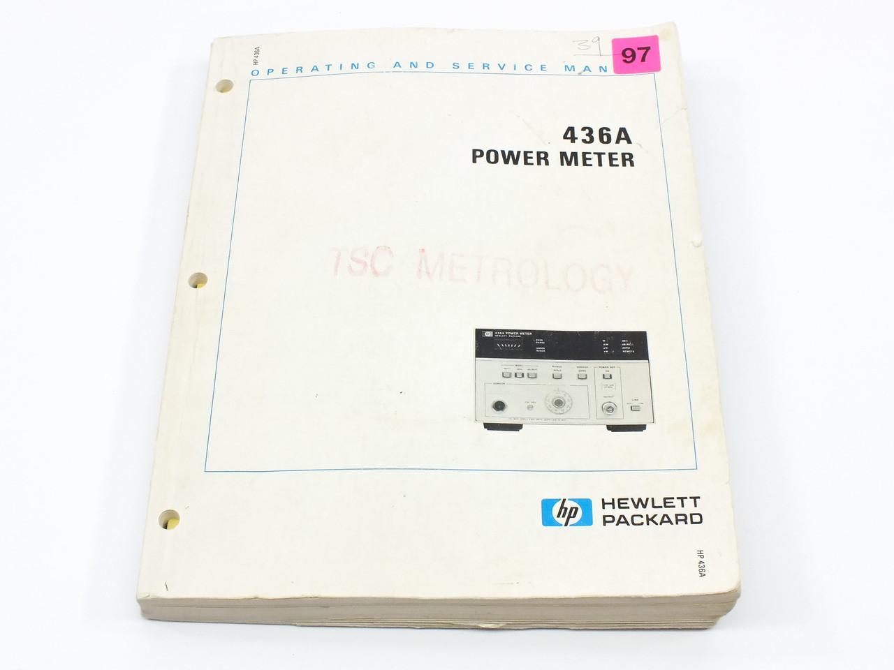 Hp 436a power meter operating and service manual recycledgoods hp 436a power meter operating and service manual freerunsca Choice Image