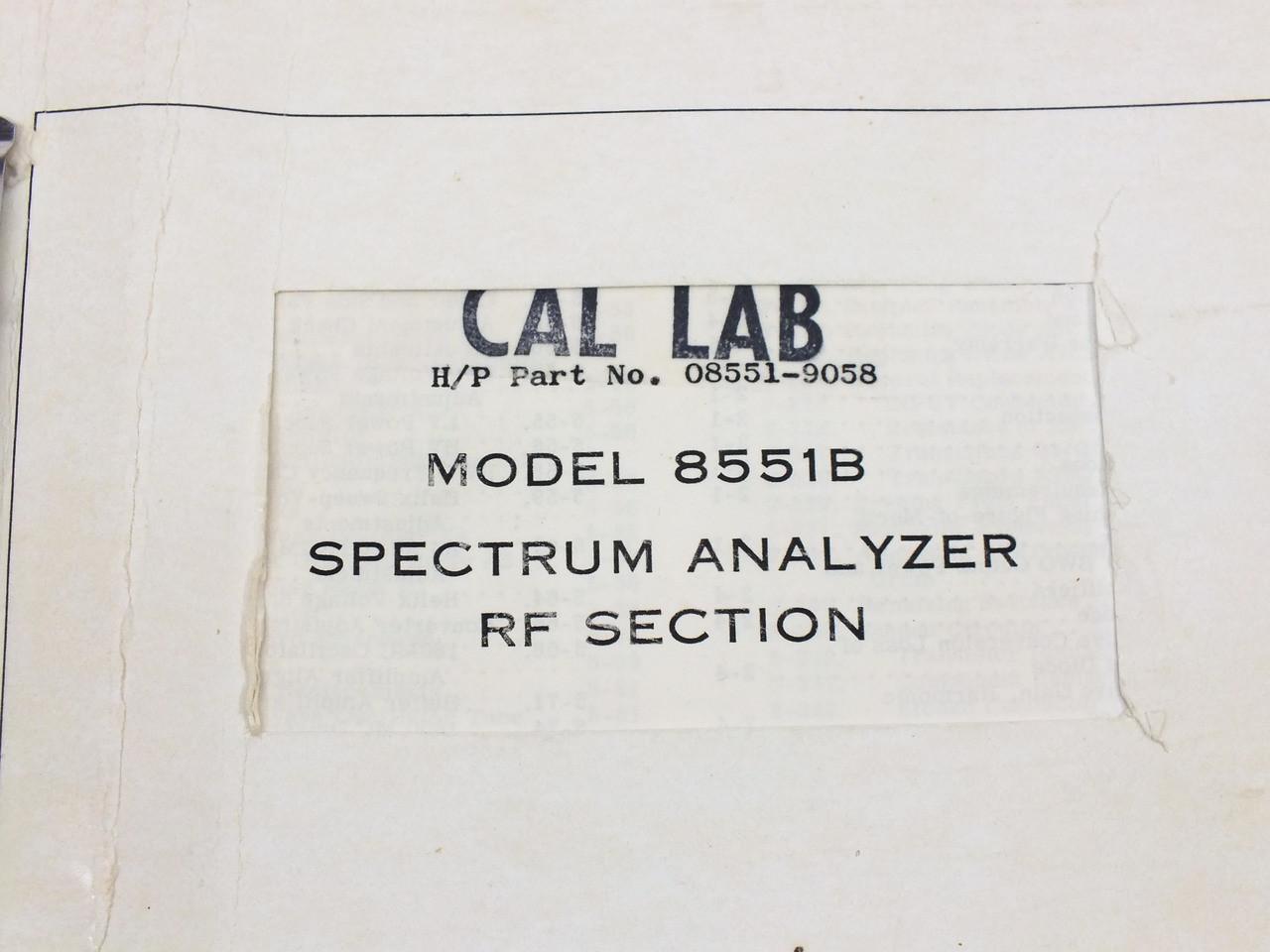 Hp 8568a Spectrum Analyzer Manual