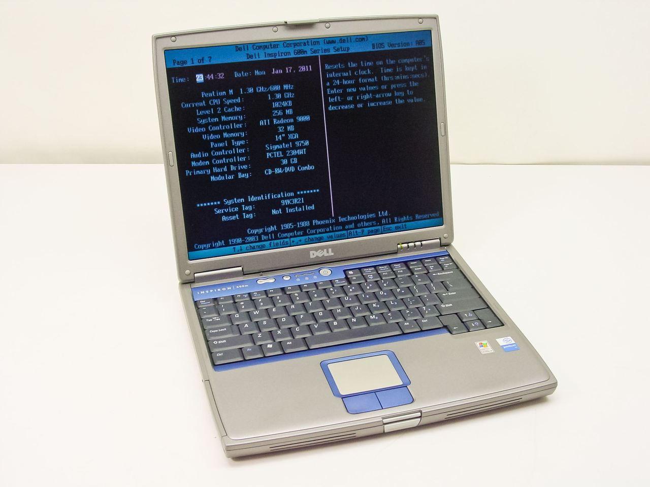Dell Pentium M 1.30GHz, Laptop - AS IS Inspiron 600m ...