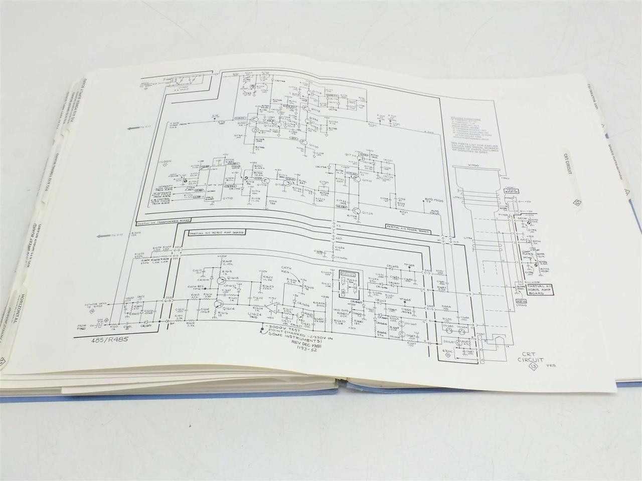 Tektronix 485 R485 Oscilloscope Service Instruction Manual