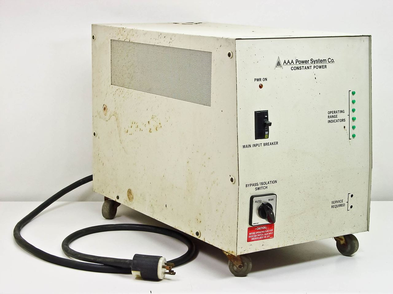Aaa Power Systems Co Ar005c0200t1 5kva Constant Supply Line Insulation Tester 5kv Conditioner