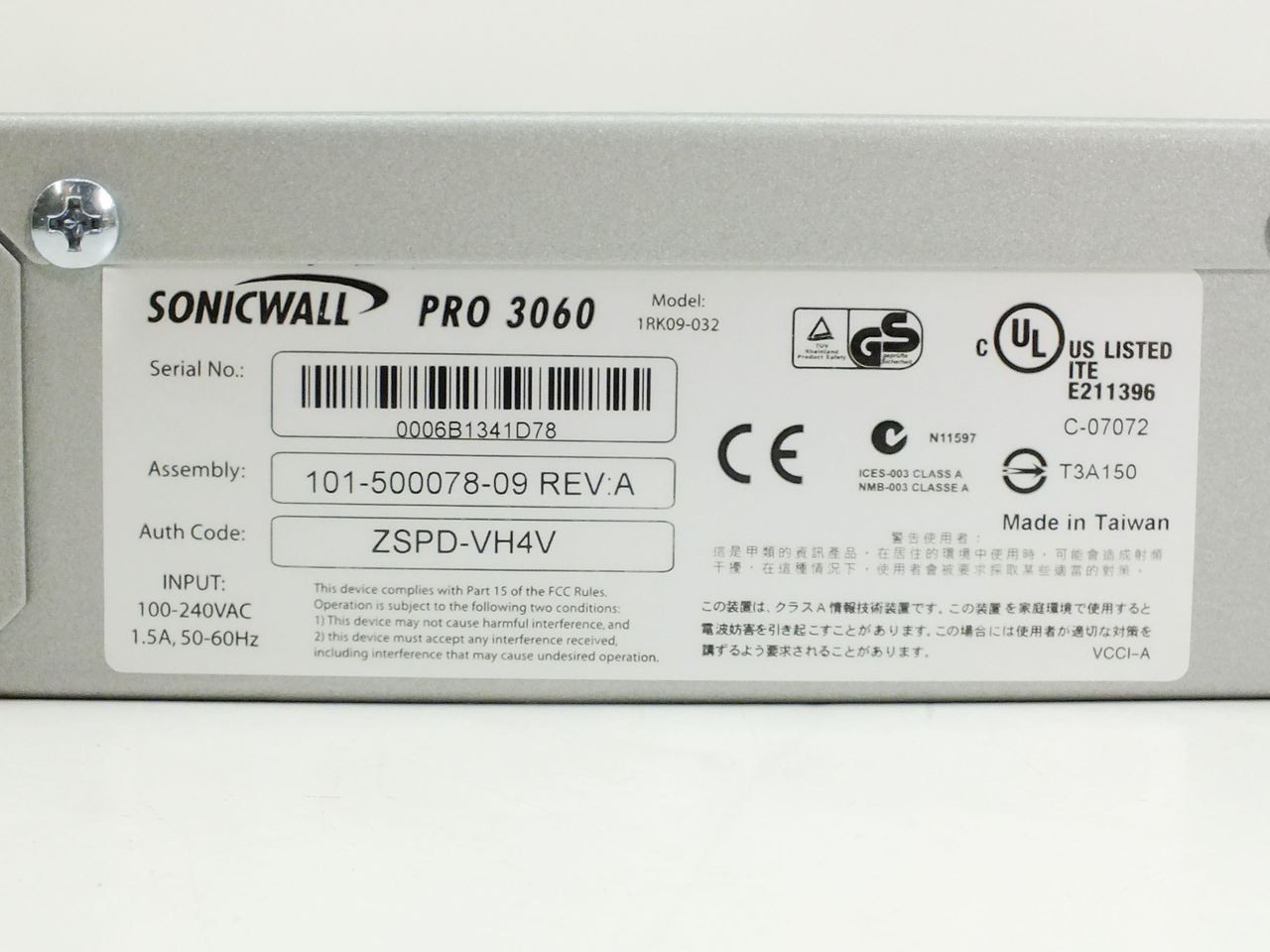 Sonicwall 1rk09 032 Pro 3060 6 Port Enhanced Network