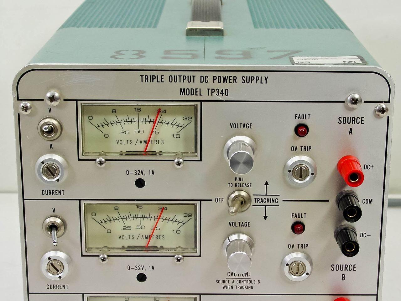 Power Designs Inc Tp340 Triple Output 0 32 Volts Dc Supply