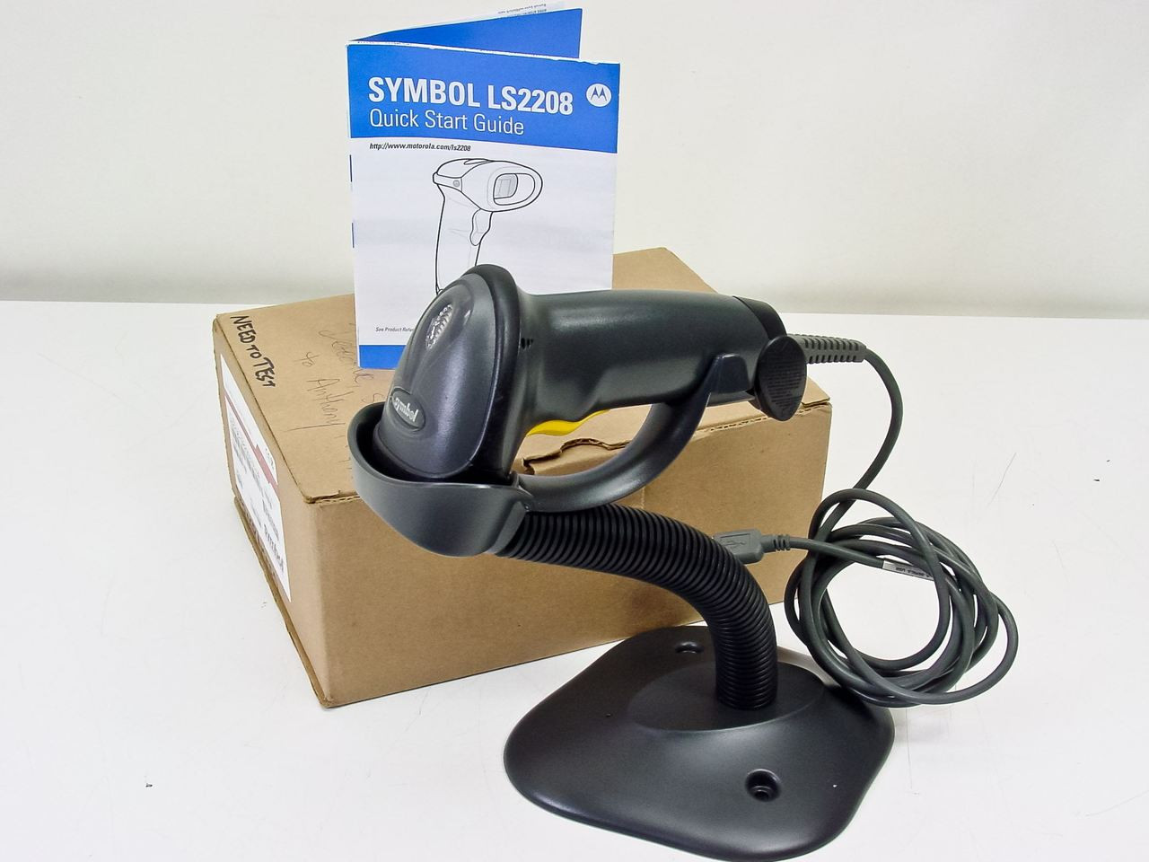 Symbol Technologies Ls2208 Sr20007 Barcode Scanner With Usb Cable Schematic Stand